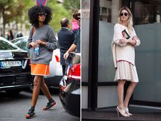 Spotted: Sweater Over Skirt -  Vanessa Jackman, Harper's Bazaar, Elle, Buro 24/7, Fash N Chips, We The People, The Sartorialist)