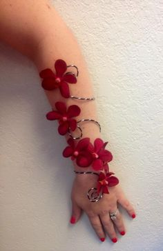 Beautiful arm wrap corsage from A New Beginning Florist in Moore, OK