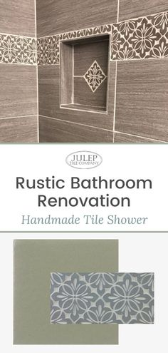 This charming, rustic bathroom remodel is perfection! If you're looking for clever ways to introduce handmade tile into your shower surround, this post is for you! Modern Farmhouse Bathroom, Classic Bathroom, Bathroom Styling, Bathroom Ideas, Decorating Ideas, Decor Ideas, Shower Surround, Handmade Tiles, Traditional Bathroom