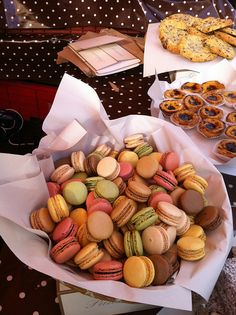 Macaroons in the desert stall- yum!