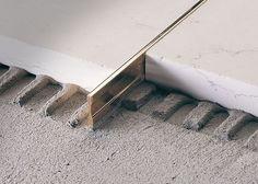 brass edge trim for tiles linetec pt profilitec - PIPicStats Detail Architecture, Interior Architecture, Interior And Exterior, Interior Design, Floor Design, Tile Design, House Design, Joinery Details, Appartement Design