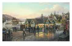 Bowness at Dusk Signed Print by Graham Twyford Sign Printing, Online Printing, Art For Art Sake, Cumbria, Lake District, Dusk, Lakes, Graham, Contemporary Art
