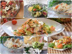 Raccolta di insalate estive