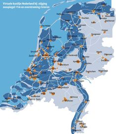 The Netherlands if sea levels rise +1M