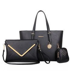2015 Popular Women Office Bag 3 Bags Per Set Portable Lady Handbag