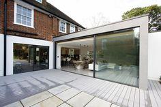Uphill Road Contemporary Extension in London using Minimal Windows Sliding Doors