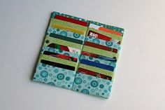 Making your own card wallet.  Maybe this would hold my cards better than what I'm using now (although I would need several wallets!)