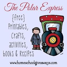 Your kids will have a blast with all these Polar Express printables, crafts, activities and recipes to get them ready to watch the movie! Polar Express Crafts, Polar Express Activities, Polar Express Theme, Polar Express Pajamas, Polar Express Train, Preschool Christmas, Kids Christmas, Christmas Crafts, Preschool Winter