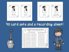 Snowman-Themed Compound Words Center and a Fun Font