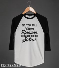 Falling from Heaven | Did you fall from Heaven, because so did Satan. #Skreened