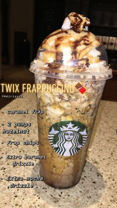 Starbucks Twix Frappuccino Enjoy - 8 regular nutrition recommendations for weigh. Starbucks Twix F Bebidas Do Starbucks, Secret Starbucks Recipes, Starbucks Hacks, Secret Starbucks Drinks, Starbucks Secret Menu Drinks, Starbucks Frappuccino, Starbucks Coffee, Butterbeer Frappuccino, Healthy Starbucks Drinks