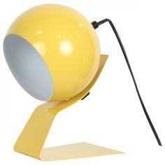 Stunning Lampe boule orientable en m tal jaune Spot Rondo