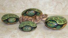 steine bemalen kleine schildkröten auf steine malen