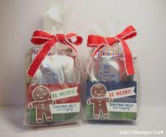 スタンピンアップ ギフトバッグ・パンチボード、クッキーカッタークリスマス・スタンプセット、クッキーカッター・パンチ、シェイク&セレブレート・スタンプセットでラスクが3枚入るクリスマスのトリートボックス! Christmas treat box using Gift Bag Punch Board, Cookie Cutter Christmas stamp set, Cookie Cutter Punch, Shake & Celebrate stamp set, Stampin' Up!