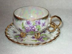 """Vintage Footed Tea Cup with Saucer """" Royal Sealy China, Japan """""""