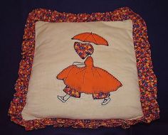 Girl with Parasol Quilt Pattern Pillow