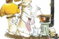 Pilzessen im Josefsdörfli Painting, Art, Mushrooms, Art Background, Painting Art, Kunst, Paintings, Performing Arts, Painted Canvas