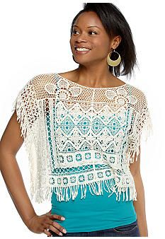 Hmm...a crochet poncho?  It's pretty.