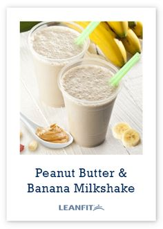 This is a kid-friendly delicious shake full of protein, fibre and calcium. This recipe covers all four recommended food groups and is the perfect on-the-go breakfast or after-school snack. Peanut Butter Milkshake, Banana Milkshake, Peanut Butter Banana, Protein Shake Recipes, Protein Foods, Protein Smoothies, Group Meals, Food Groups, Recipe Cover