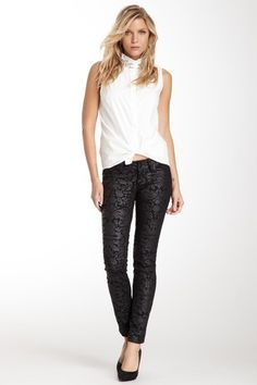 Seven7 Printed Skinny Jean by Fab Finds Under $50 on @HauteLook