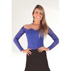 USD13.49Sexy Bateau Neck Long Sleeves Solid Blue Bud Silk Shirt
