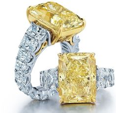 The most prevalent of engagement customs is the groom providing his bride-to-be to be with a ring. Most regularly, the engagement ring is a diamond ring. Nevertheless, diamonds are not the only valuable stones utilized in engagement rings. Diamond Jewelry, Jewelry Rings, Fine Jewelry, Geek Jewelry, Diamond Pendant, Jewlery, Yellow Diamond Rings, Canary Diamond, Emerald Rings
