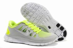 Nike Free 5.0 Lime Grey Mens Running Shoes