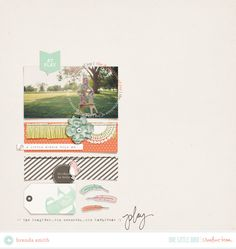 Creative Team Inspiration | One Little Bird #scrapbooking #digital