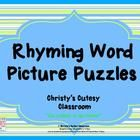 This set contains 21 self-correcting puzzles featuring rhyming word pictures.  Perfect for literacy centers. Christys Cutesy Classroom...