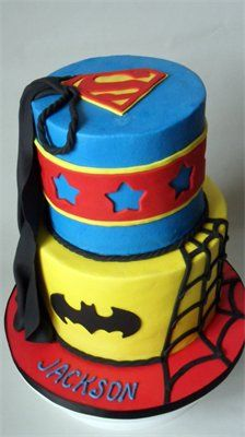 super hero-I so wish I could decorate cakes!  This would be great for my nephew!