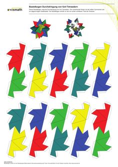 "Pattern for ""Five Tetrahedra"""
