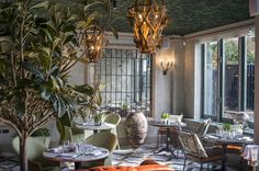 The Ivy Chelsea Garden, modern european (Caprice Holdings. sister to the Ivy) - Chelsea, London