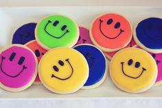 Cute smiley cookies.