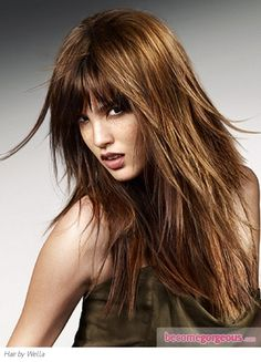 long layered hair | Rock Chic Long Layered Hair | long on sides and back with a few snipped tendrils for interest