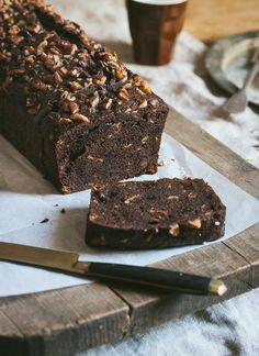 Moist and rich, this cake is the chocolate version of my favorite recipe for banana bread. Banana Bread Recipes, Cake Recipes, Cocoa Cinnamon, Chip Cookies, Eat Cake, Baked Goods, Sweet Tooth, Sweet Treats, Cooking Recipes