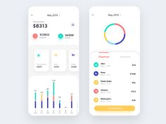 Balance For Finance Banking App : Balance For Finance Banking App by Andantee Hope you like! Mobile App Design, Web Mobile, Android App Design, Android Ui, Mobile App Ui, Android Hacks, Web Design, Flat Design, Finance