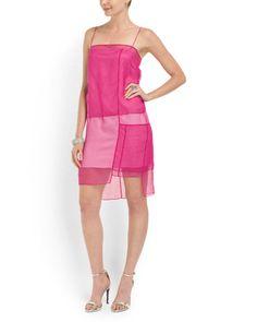 Silk Colorblock Organza Dress