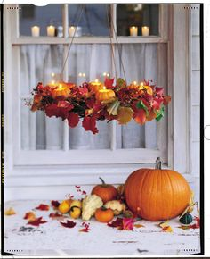 Elegant Fall decorations for photo shoots