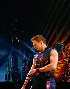 Hawkeye - i have a thing for arms... i like his...