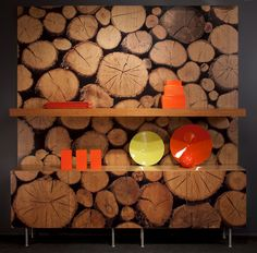 Woodpile from the Repeating Textures Collection in cherry.