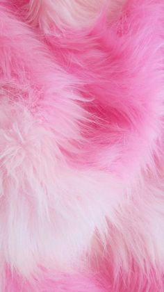 fluffy and pink