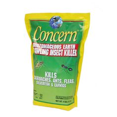 Diatomaceous Earth (DE) products cut into insects' bodies, causing them to die naturally of dehydration. data-pin-do=