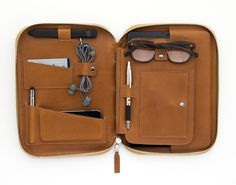 Genius travel case for iPad, phone, passport, cords & cards