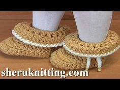 Crochet Folded Cuff Baby Booties Tutorial 45 - YouTube