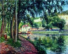 Summer Fishing, n.d., Camille Pissarro (French, 1830-1903). WikiArt (public domain)