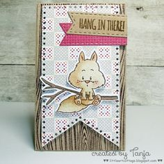 Hang in there! Squirrel Happy Fall Handmade Cards – Gerda Steiner Designs, LLC