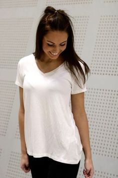 Mbym - Marcel Basic V-neck White Basic Tops, Marcel, V Neck, Casual, Women, Fashion, Moda, Women's, La Mode
