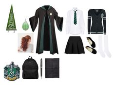 """Harry Potter Slytherin Female"" by gladers4ever on Polyvore featuring Public School, T By Alexander Wang, Hyke, Hogan, Montblanc and Bynd Artisan"