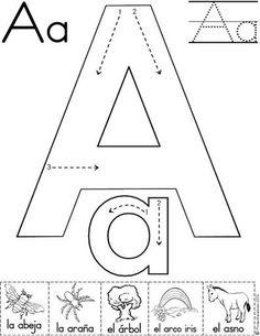letra a fichas del abecedario y el alfabeto para descargar gratis para imprimir de niños