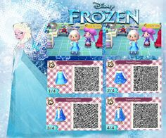 Animal Crossing: New Leaf QR code ( Frozen ) by Rasberry-Jam-Heaven